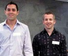 Daniel Burgess and Mike Horrell at the New Zealand Engineers Without Borders finals in Auckland