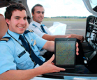ipad with aviation students