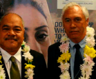 Dr Malakai Koloamatangi and Assistant Vice-Chancellor (Māori and Pasifika) Dr Selwyn Katene.