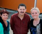 Manawatū-based students Catherine Campbell and Deborah Thompson with Spanish senior lecturer Dr Leonel Alvarado